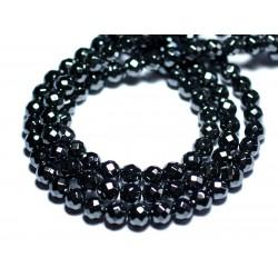 10pc - Perles de Pierre - Hématite Boules Facettées 6mm - 4558550022592