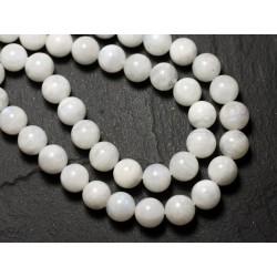 1pc - Perle de Pierre - Pierre de Lune blanche Boule 8-9mm - 8741140008724