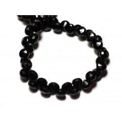 1pc - Perle de Pierre - Spinelle noire Goutte Facettée 6mm - 8741140008809