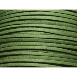 5 mètres - Cordon Lanière Suédine 3x1.5mm Vert Sapin 4558550004710