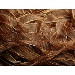 1pc - Echeveau 90 mètres - Ruban Tissu Organza Chocolat N°1 10mm 4558550001337