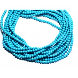 40pc - Perles Turquoise Synthèse reconstituée Boules 2mm Bleu Turquoise - 8741140008373
