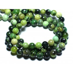 4pc - Perles de Pierre - Chrysoprase Boules 8mm - 8741140007680