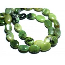 2pc - Perles de Pierre - Chrysoprase Ovales 14x10mm - 8741140007697