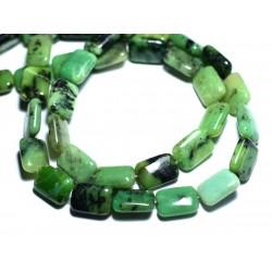 2pc - Perles de Pierre - Chrysoprase Rectangles 14x10mm - 8741140007703
