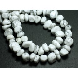 10pc - Perles de Pierre - Howlite Galets roulés 10-15mm - 8741140008502