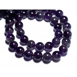 5pc - Perles de Pierre - Améthyste Boules 8mm - 8741140007666