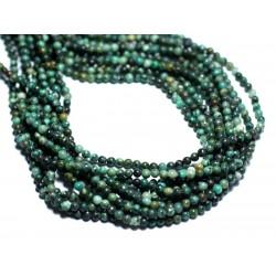 30pc - Perles de Pierre - Turquoise Afrique naturelle Boules 2mm - 8741140007994