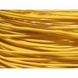 Echeveau 19m - 5 Fils 3,80m Elastique Tissu 1mm Jaune 4558550019974