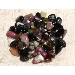 10pc - Perles de Pierre - Tourmaline Multicolore Rocailles Chips 6-14mm 4558550015006