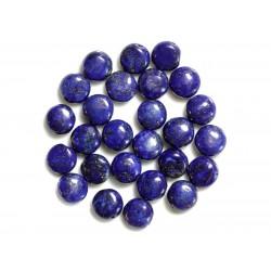 4pc - Perles de Pierre - Lapis Lazuli Palets 10mm - 4558550038258