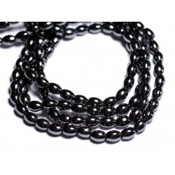 20pc - Perles de Pierre - Hématite Olives 7x5mm - 8741140005181
