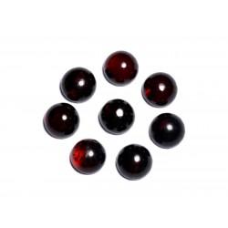 1pc - Cabochon Ambre rouge naturelle Rond 8mm - 8741140003217