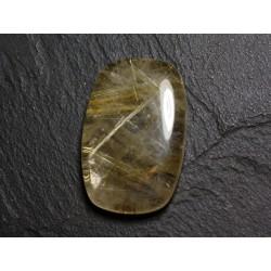 N48 - Cabochon Pierre - Quartz Rutile doré Rectangle 34x22mm - 8741140002586