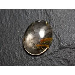 N69 - Cabochon Pierre - Quartz Rutile doré Ovale 20x16mm - 8741140002791