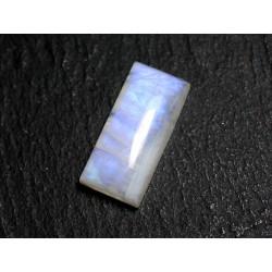 N52 - Cabochon Pierre de Lune Arc en Ciel Rectangle 21x10mm - 8741140001930