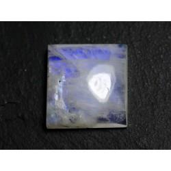 N63 - Cabochon Pierre de Lune Arc en Ciel Carré 19mm - 8741140002043