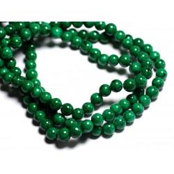 20pc - Perles de Pierre - Jade Boules 6mm Vert Empire - 8741140001084