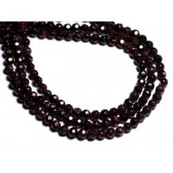 20pc - Perles de Pierre - Grenat Boules facettées 4mm - 8741140000711