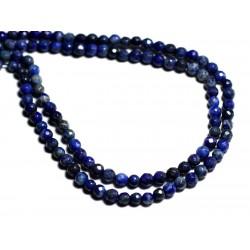 20pc - Perles de Pierre - Lapis Lazuli Boules facettées 4mm - 8741140000759