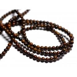 30pc - Perles de Pierre - Oeil de Fer Boules 4mm - 8741140000827