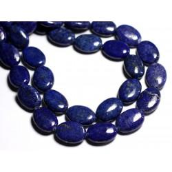 2pc - Perles de Pierre - Lapis Lazuli Ovales 18x13mm - 8741140000766