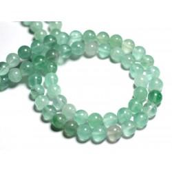 10pc - Perles de Pierre - Fluorite verte Boules 6mm - 8741140000674