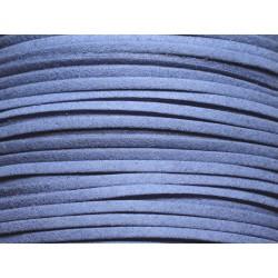 5 mètres - Cordon Lanière Suédine 3x1.5mm Bleu Bleuet 4558550002747