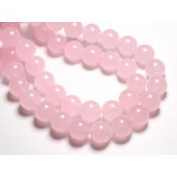 4pc - Perles de Pierre - Jade Boules 14mm Rose clair - 4558550081636