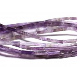 4pc - Perles de Pierre - Améthyste Tubes 13x4mm - 4558550095442