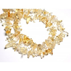 10pc - Perles de Pierre - Chips Bâtonnets Citrine 10-22mm - 4558550008367