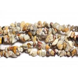 120pc environ - Perles de Pierre Rocailles Chips Agate Crazy 4-10mm 4558550024176