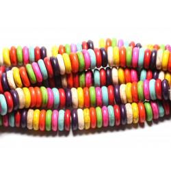 20pc - Perles de Pierre - Turquoise synthèse Rondelles 12mm Multicolore - 4558550082510