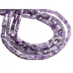 5pc - Perles de Pierre - Améthyste Tubes 7-8mm - 4558550006707
