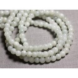 20pc - Perles de Pierre - Jade Boules 6mm Blanc Gris clair - 4558550093110