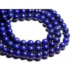 4pc - Perles de Pierre - Lapis Lazuli Boules 10mm B - 4558550093233