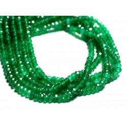 30pc - Perles de Pierre - Jade Rondelles Facettées 4x2mm Vert Émeraude - 4558550093226