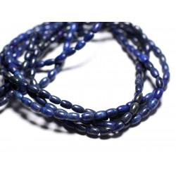 10pc - Perles de Pierre - Lapis Lazuli Olives Riz 6x4mm 4558550035875