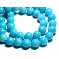 4pc - Perles de Pierre - Jade Boules 14mm Bleu Turquoise - 4558550093165