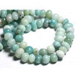 10pc - Perles de Pierre - Amazonite Galets roulés 7-13mm - 4558550092823
