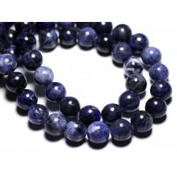 2pc - Perles de Pierre - Sodalite Boules 12mm - 4558550092946