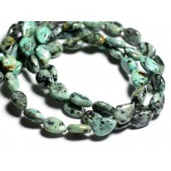 4pc - Perles de Pierre - Turquoise d'Afrique Gouttes 12x8mm - 4558550092953
