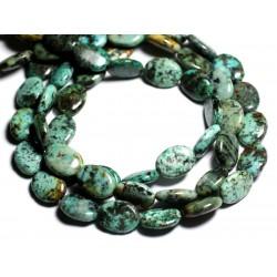 2pc - Perles de Pierre - Turquoise d'Afrique Ovales 16x12mm - 4558550092991