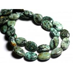 2pc - Perles de Pierre - Turquoise d'Afrique Ovales 18x13mm - 4558550092984
