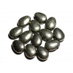 Pendentif Pierre semi précieuse - Pyrite dorée Goutte 25mm - 4558550092267