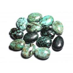 Pendentif Pierre semi précieuse - Turquoise Afrique Goutte 25mm - 4558550092281