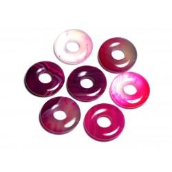 Pendentif Pierre semi précieuse - Agate Rose Donut Pi 20mm - 4558550092045