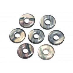 Pendentif Pierre semi précieuse - Fluorite Multicolore Donut Pi 20mm - 4558550092076