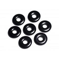 Pendentif Pierre semi précieuse - Obsidienne noire Donut Pi 20mm - 4558550092090