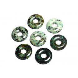 Pendentif Pierre semi précieuse - Turquoise Afrique Donut Pi 20mm - 4558550092106